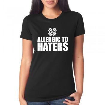 Marškinėliai Allergic to haters