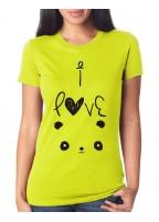 Marškinėliai I love panda