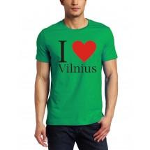 Marškinėliai I love Vilnius