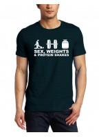 Marškinėliai Sex, weights & protein